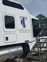 A side view of one of two tanker trailers donated to
