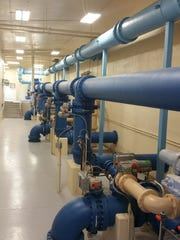 Piping was installed as part of an expansion at a Lebanon, Tenn., water treatment plant - a project using loans provided with Environmental Protection Agency funding.