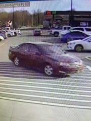 Clarksville Police say a man involved in several indecent exposure cases is driving this car.