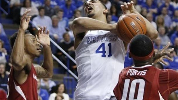 Trey Lyles and the Kentucky Wildcats improved to 34-0 after beating Arkansas in the SEC tournament title game Sunday in Nashville