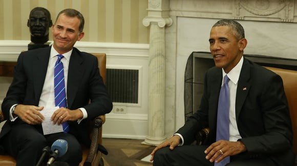 President Obama meets with King Felipe VI of Spain