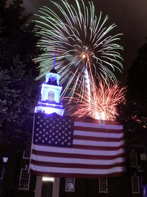 Saturday's fireworks have been cancelled to the encroaching Tropical Storm Hermine.