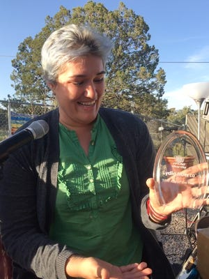 Lydia Huerta is the recipient of the first annual Ally Award presented by PFLAG Silver City
