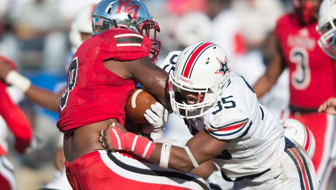 Keith Brown Jr. finished with a team-best 94 tackles and also had six sacks and 10.5 tackles for loss as a sophomore at Northwest Mississippi State.