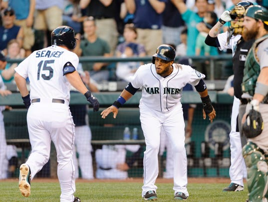 USP MLB_ Oakland Athletics at Seattle Mariners