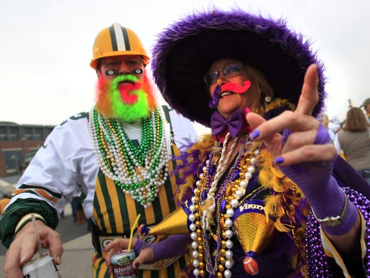 The Green Bay Packers host the Minnesota Vikings Thursday, October 2, 2014, at Lambeau Field in Green Bay, Wis.