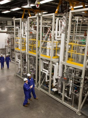The Virent biogasoline demonstration plant in Madison.