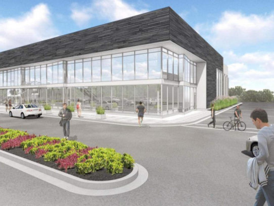 An artist rendering shows the fitness center hat was approved at 8900 Sura Lane, in the 84South development along Layton Avenue between 84th and 92nd streets.
