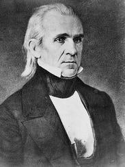James Polk, president 1845-1849.