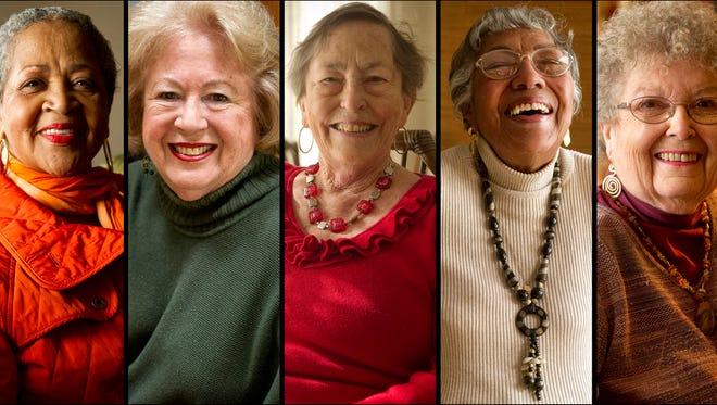 Panel of American Women---( left to right) Joyce Blackmon, Jocelyn Wurzburg, Jeanne Varnell, Modean Thompson and Happy Jones.