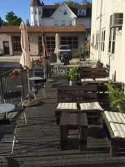 Grooveground offers outdoor garden seating and a full menu of sandwiches, salads and more, as well as bistro seating on the sidewalk.
