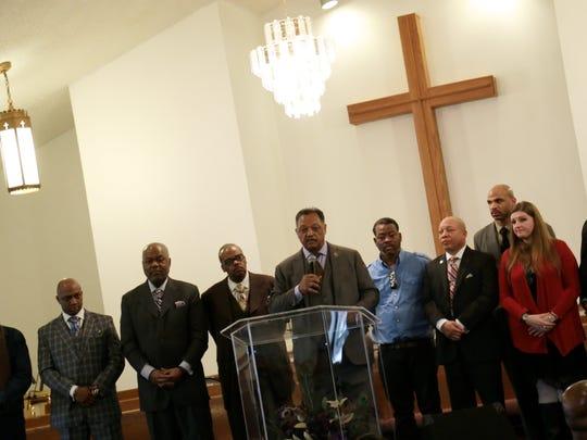 The Rev. Jesse Jackson,  president of Rainbow PUSH