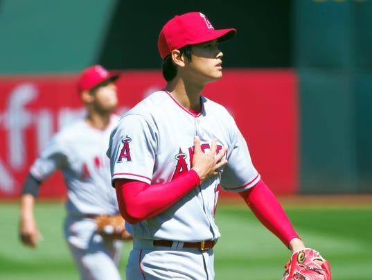 USP MLB: LOS ANGELES ANGELS AT OAKLAND ATHLETICS S BBA OAK LAA USA CA