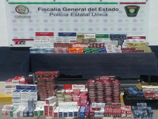 Chihuahua state police seized 4,100 packages and 491 packs of cigarettes that came from China, authorities said.
