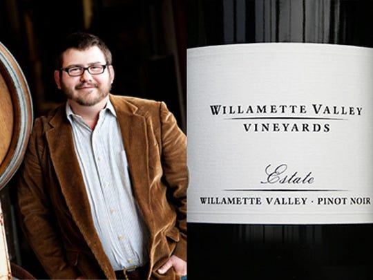 Don Crank, winemaker at Willamette Valley Vineyards, recommends pairing 2012 Estate Pinot Noir.