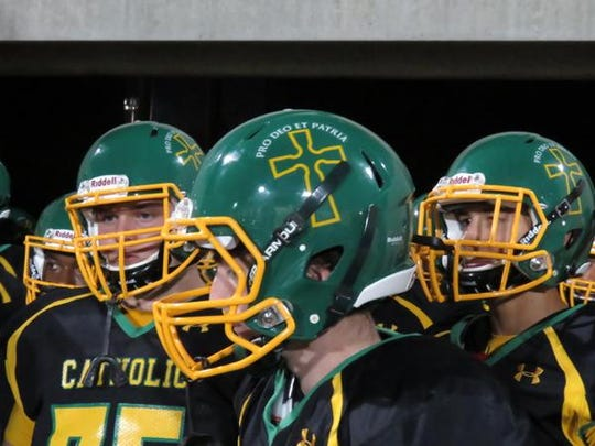 New helmets for Catholic High.