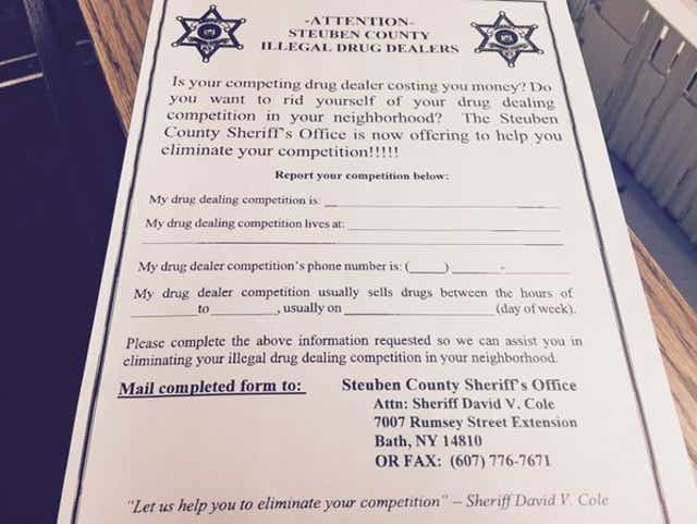 Got Drug Dealer Probs Steuben Sheriff Wants To Help