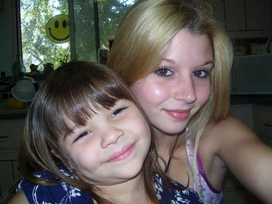 Madison Wells, left, with her former babysitter Brittany