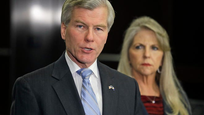 Former Virginia governor Bob McDonnell and his wife, Maureen. (Steve Helber, AP)