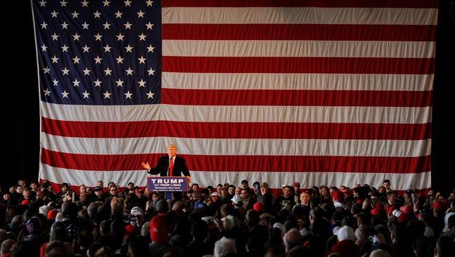 Donald Trump in Rochester.