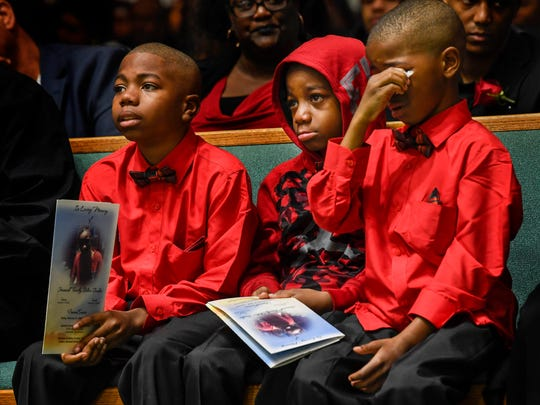 Friends and family of Jeremiah Shelton-Barbee gather