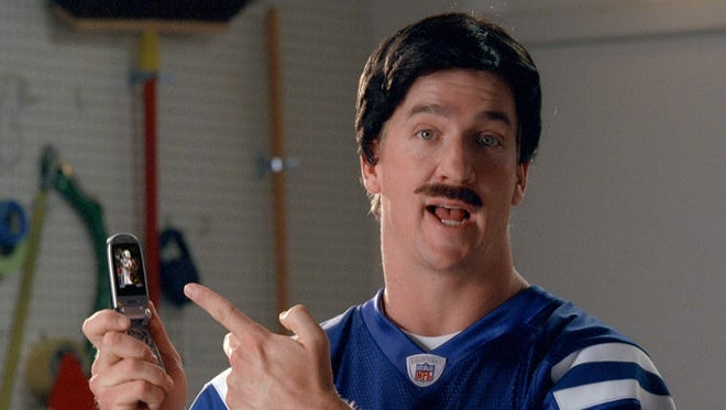 """Peyton Manning wore a """"disguise"""" in this famous Sprint commercial."""