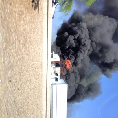 A semi fire is closing the westbound lanes of loop