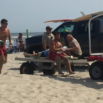 Lifeguard successfully revived a man on Friday who