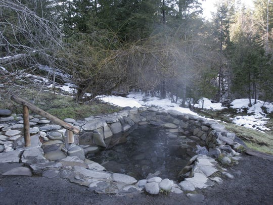 Meadow pools are filled with water from the hot springs