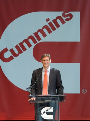 Cummins CEO Tom Linebarger, shown in this 2014 photo, told Congress Tuesday that the North American Free Trade Agreement has been key to the company's recent success. He argued it should be updated and not scrapped.