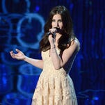 Idina Menzel performing during the Oscars at the Dolby Theatre in Los Angeles.