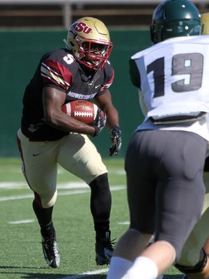 Midwestern State's Adrian Seales and the Mustangs are in the playoffs and will travel to Ferris State on Saturday.