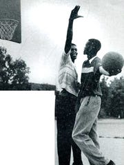 Cleveland Harp and Willie Gardner pose at the Dust Bowl in the '50s.