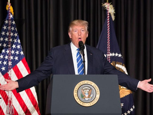 President Trump Speaks At A Meeting Of Police Chiefs And Sheriffs