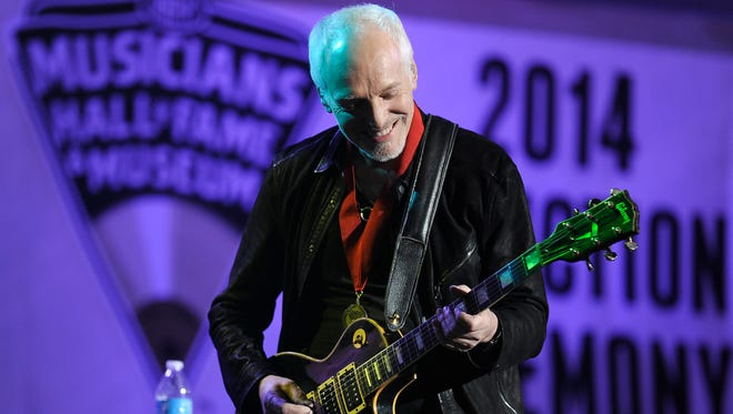 Peter Frampton at The Musicians Hall of Fame & Museum at Municipal Auditorium on Tuesday Jan. 28, 2014.
