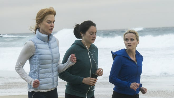 Nicole Kidman as Celeste (from left), Shailene Woodley as Jane and Reese Witherspoon as Madeline on 'Big Little Lies.'