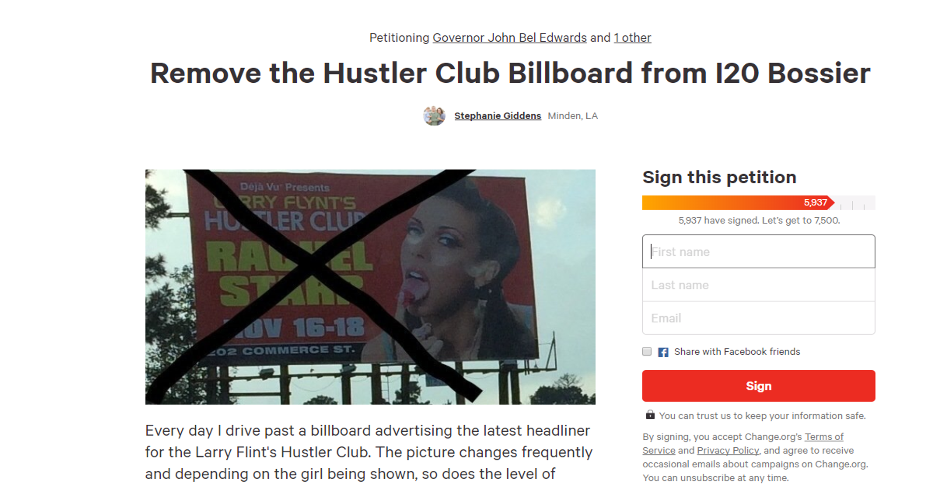 'Suggestive' billboard on I-20 being petitioned for removal