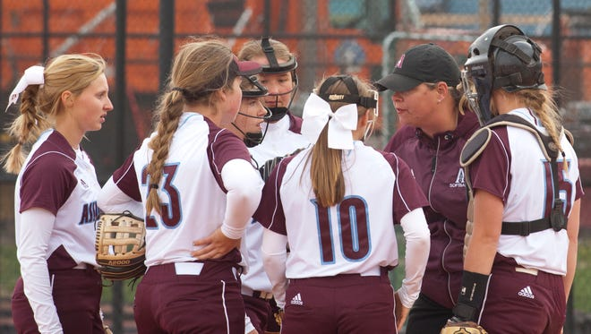Assumption Rockets head softball coach Lisa Pinkston and the Rockets are headed to the Seventh Region softball tournament final.