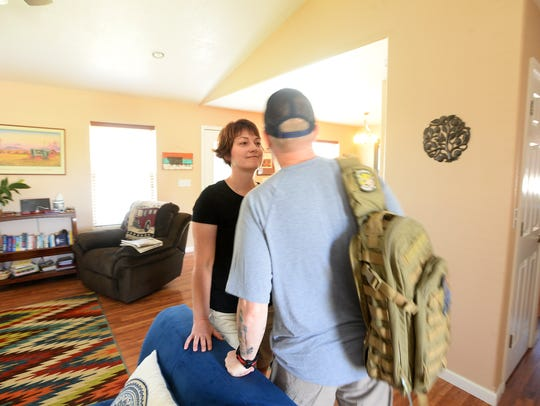 Jason Baker stopped to give his wife, Jill, a kiss before heading out for the day. He treasured time with family and friends as he grappled with the cancer that cut his life short.