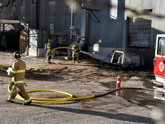 Great Falls fire fighters extinguish remaiining hotspots
