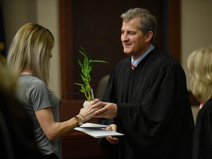Michigan Supreme Court Justice Brian Zahra presents