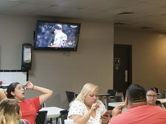The World Series is on TV at Chino Bandido restaurant