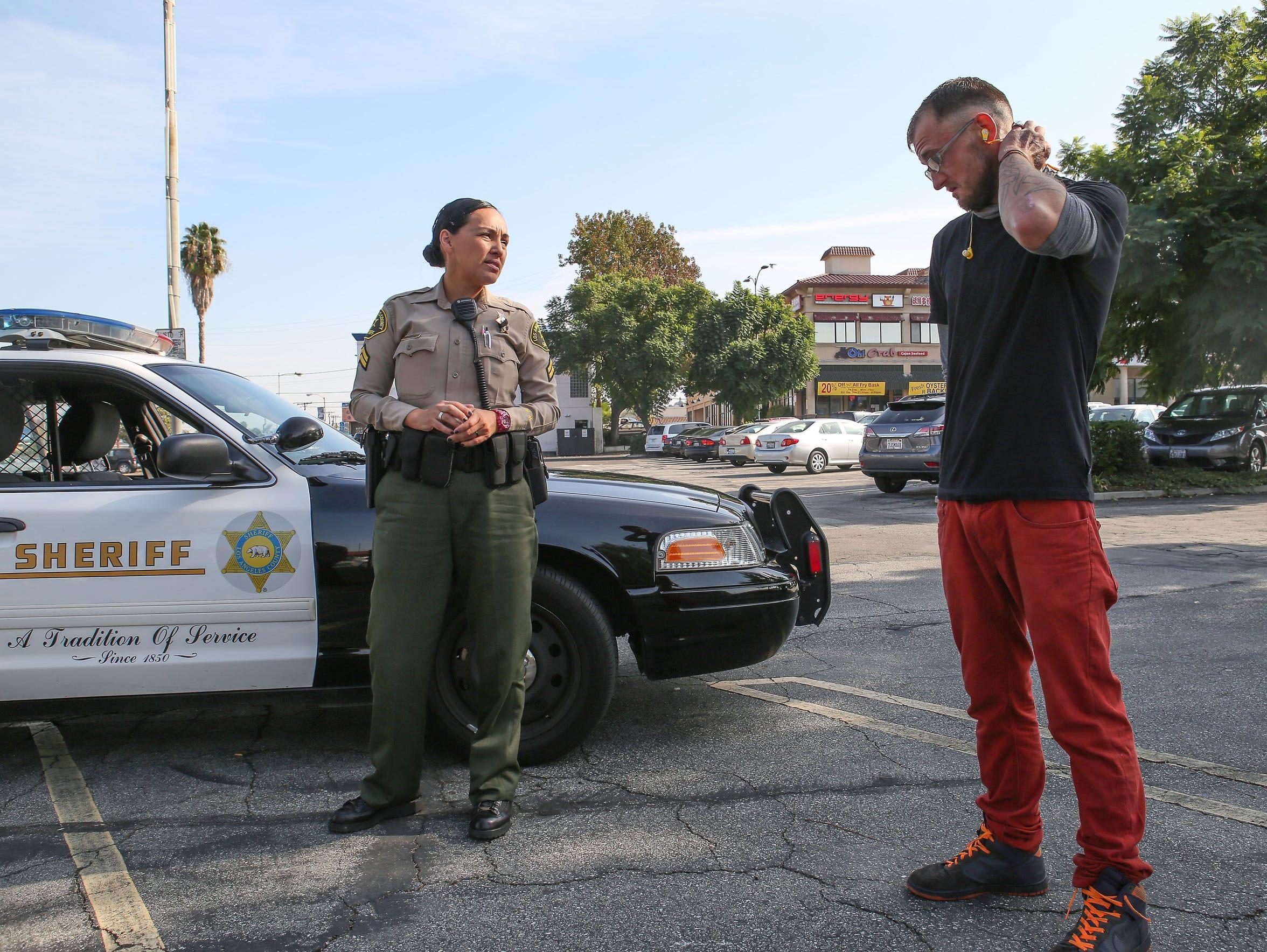 Los Angeles County Sheriff's deputy Joanne Arcos talks