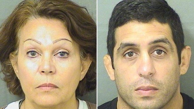 Dolores Connors Morgan (left) and her son Ted Connors were booked Jan. 10, 2020, at the Palm Beach County Jail.