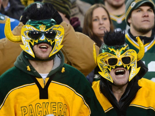 Packers fans during last week's game against the Lions