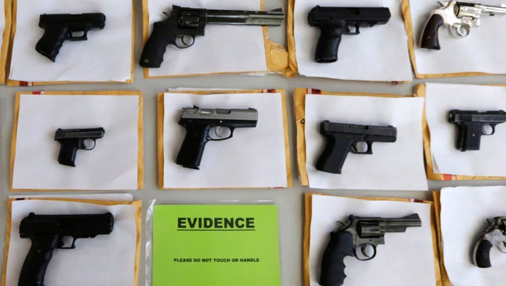 Police display nearly 3,400 illegal firearms confiscated