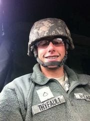Taylor Thyfault in the Army.