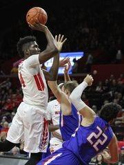 Jonathan Laurent rises for Rutgers.