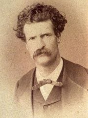Mark Twain, pictured in 1867, three years after he left Virginia City.