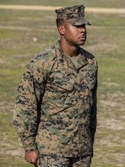 Marine Corps Sgt. Raheem Boyd was recognized during an American Hero Award ceremony Dec. 23.
